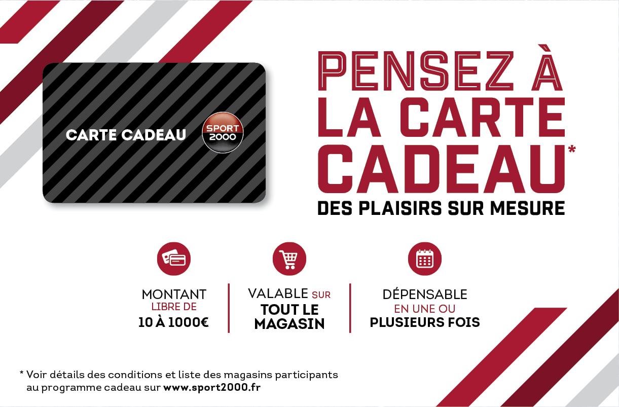 carte cadeau sport 2000 CARTE CADEAU – Sport 2000 Montbrison