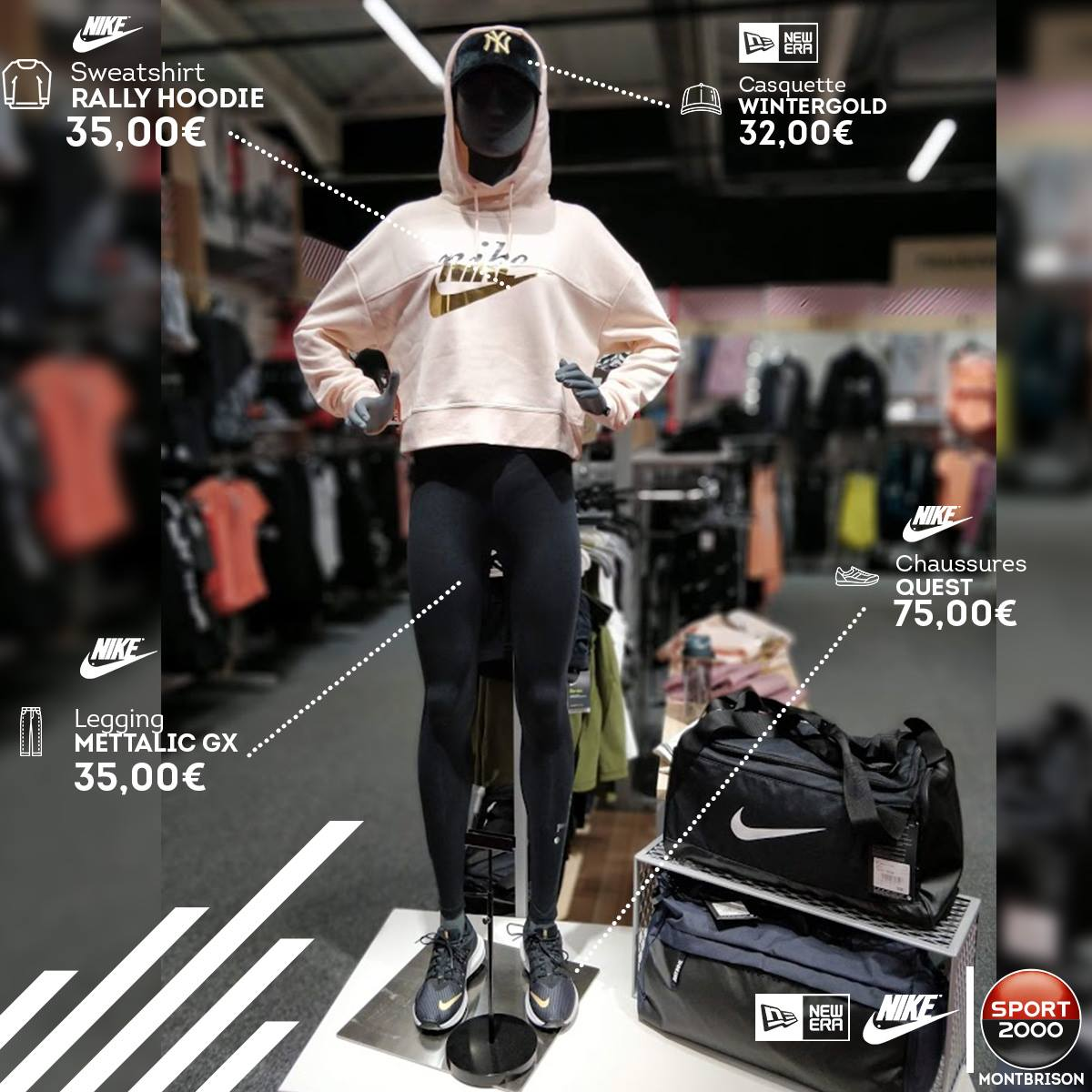casquette ny femme sport 2000